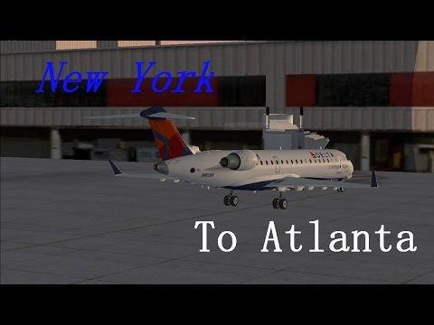 FSX Delta Connection CRJ-700 to Atlanta
