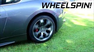 Maserati GranTurismo S struggles to mount kerb + Revs!