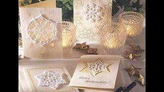 Очень красивые открытки на Новый Год своими руками