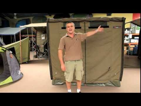 The Oztent RV-2 can be easily set up by one person in less than 30 seconds