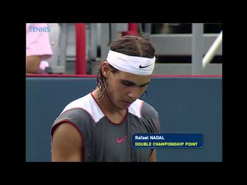 Rafael Nadal vs Andre Agassi flashback   Coupe Rogers Montreal 2005 Final