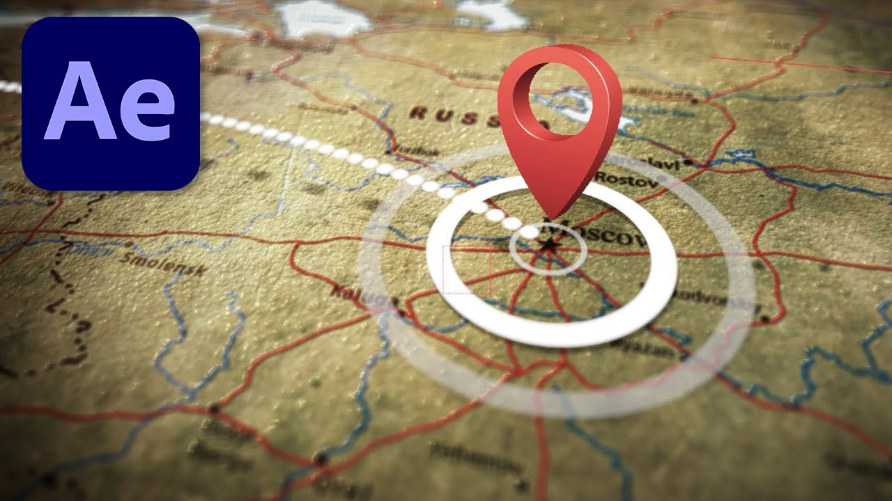 Clean 3d Animated Travel Map Tutorial In After Effects Toolfarm