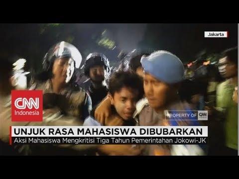 Unjuk Rasa Mahasiswa Kritisi Jokowi-JK Dibubarkan Paksa