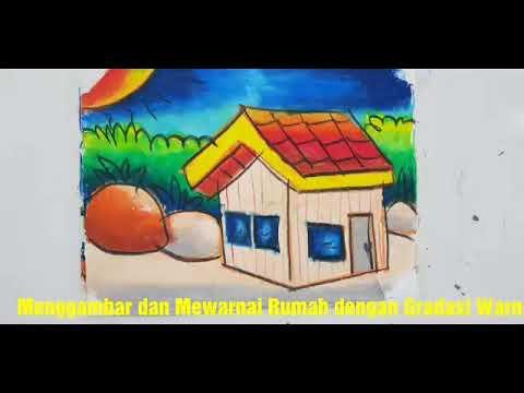 Menggambar Dan Mewarnai Rumah Untuk Anak Tk Paud Gradasi Warna