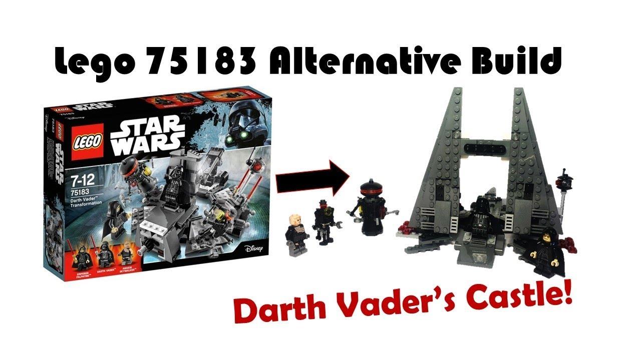 Lego Star Wars 75183 Alternative Build Darth Vaders Castle