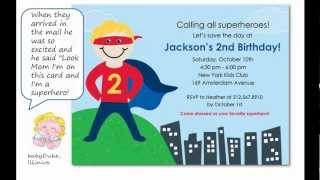 Super Ideas to Try For Your Superhero Birthday Party Invitation