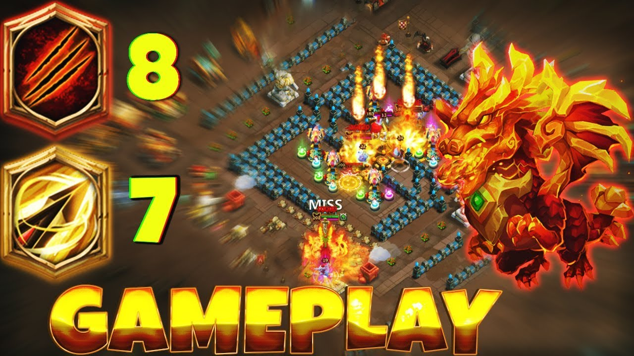 NEW* Talent | 8/8 SUNDER | 7 Zealous Drive |LAVANICA| Gameplay | CASTLE  CLASH