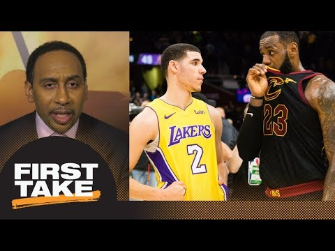Stephen A. speculates what LeBron James told Lonzo Ball after Lakers-Cavaliers | First Take | ESPN