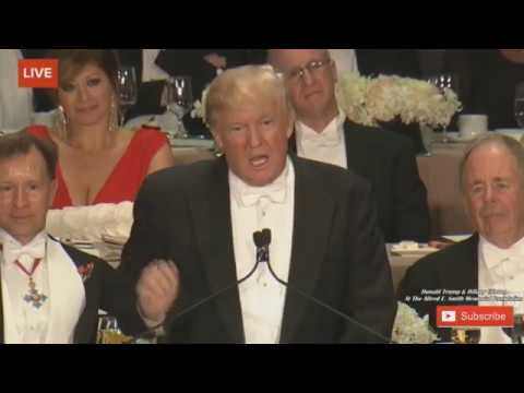 WATCH Donald Trump ROASTS Hillary Clinton At The Alfred E Smith Memorial Dinner - 10/20/16 FULL
