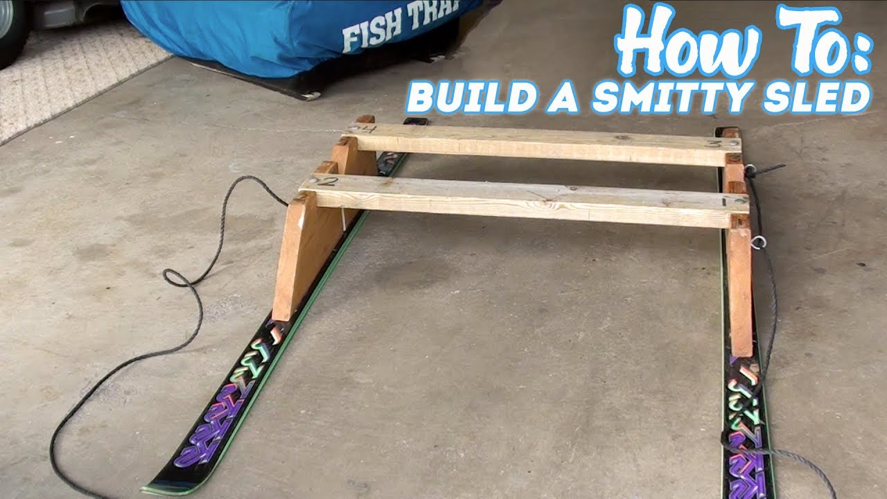 How to build a smitty type ice fishing sled easy diy for Ice fishing sled ideas