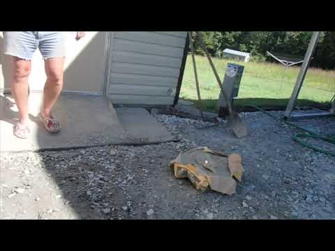 Building a concrete shed ramp finished