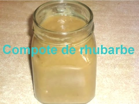recette compote de rhubarbe s verine youtube. Black Bedroom Furniture Sets. Home Design Ideas