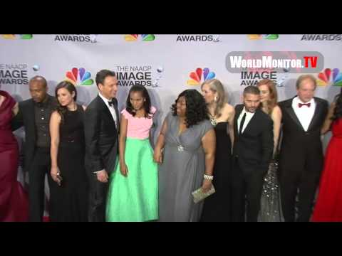 Cast of ABC's hit Drama 'Scandal' backstage at The 44th NAACP Image Awards