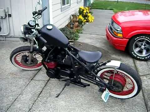 1977 Kawasaki KZ 650 Chopper bobber project...completed! - YouTube