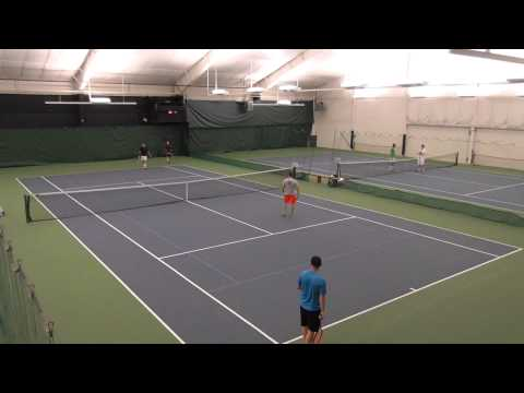 Mens USTA League 4.5 Doubles Tennis Match