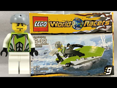 LEGO World Racers Powerboat polybag review! 2010 set 30031!