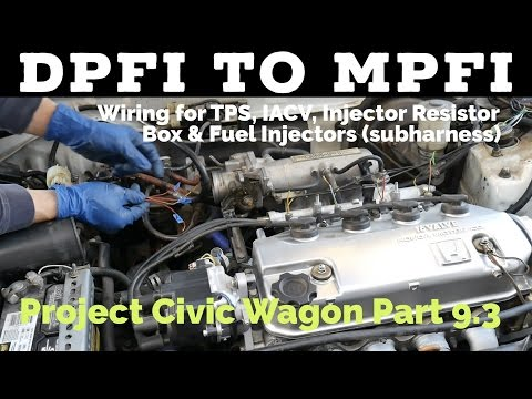 DPFI to MPFI Wiring (TPS, IACV, Resistor Box, Fuel Injectors & Subharness) Project Civic Wagon - EF
