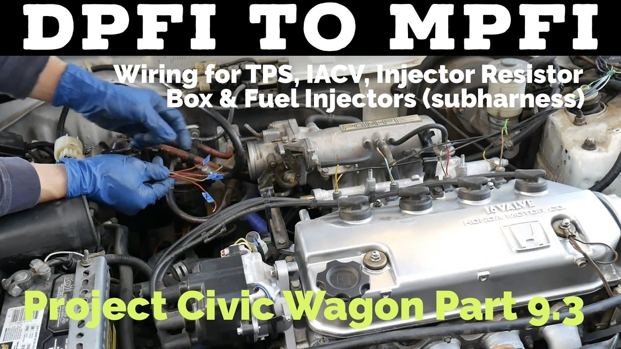 small resolution of dpfi to mpfi wiring tps iacv resistor box fuel injectors subharness project civic wagon ef