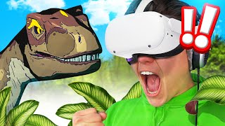 Playing With A DINOSAUR In VR! (Jurassic World)
