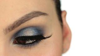 Electric/Night Blue + Silver Look II Maquillaje en tonos azules y plata