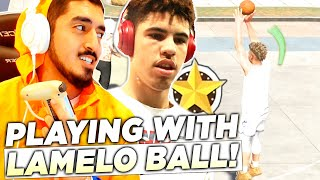 PLAYING WITH THE REAL LAMELO BALL in NBA2K20 *WE'RE UNSTOPPABLE*