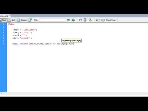 tutorial multimedia - 2.pembuatan file koneksi ke database