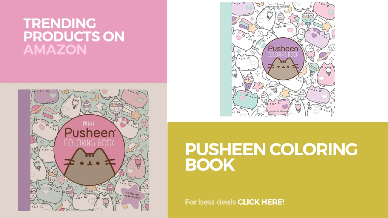 pusheen coloring book trending products on amazon