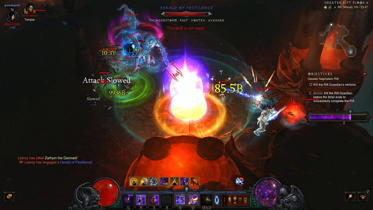 Diablo 3 Season 18 Vyr Chantodo Solo GR120 Push - Rank 720
