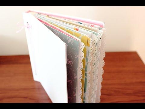 Mini álbum de sobres con cubierta de cartón (I): Estructura