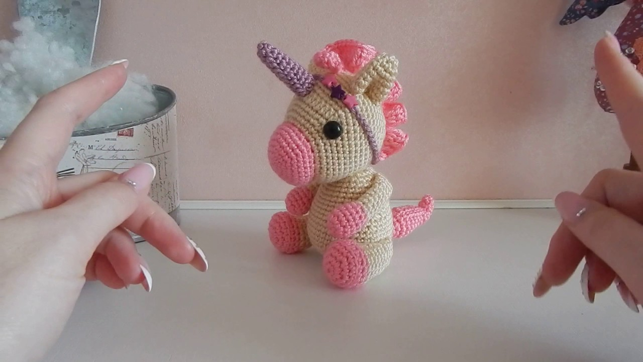 Единорог - пони ♥ игрушка крючком ♥♥ - YouTube