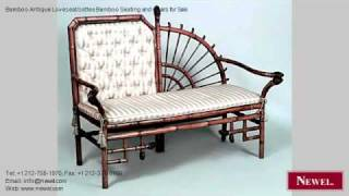Bamboo Antique Loveseat/settee Bamboo Seating And Chairs