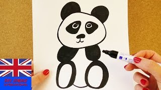 Learn how to draw a baby Panda bear! | Step by step tutorial