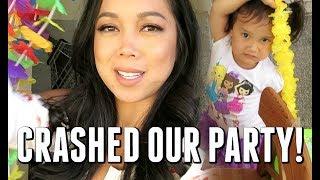 SHE CRASHED OUR PARTY! - July 30, 2017 -  ItsJudysLife Vlogs