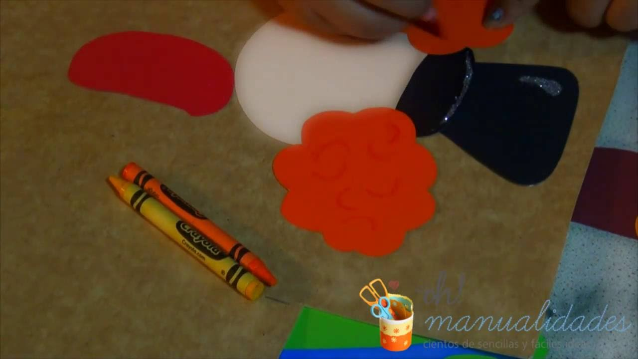 lindo payaso hecho de cartulina de colores - YouTube