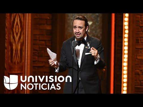 Mensaje de amor de Lin Manuel Miranda en los Premios Tony