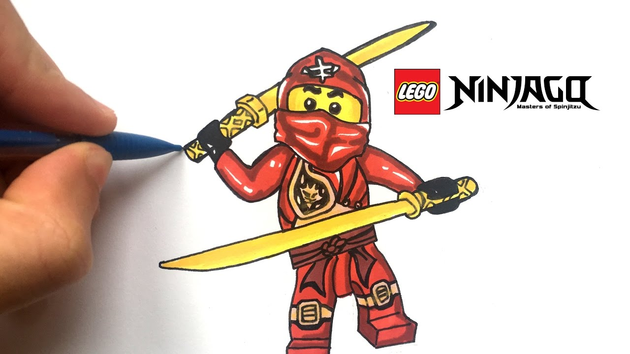 Draw Kai Ninjago