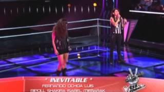 Carmen Sarahí canta Inevitable en las batallas de La Voz México