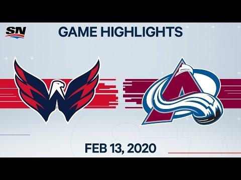 NHL Highlights | Capitals Vs. Avalanche – Feb. 13, 2020