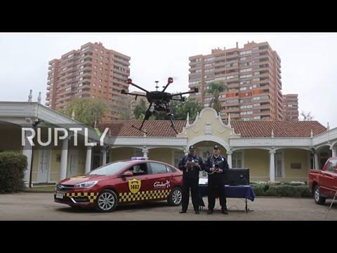 Chile: Authorities use SPEAKING DRONES to patrol crime hotspots