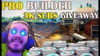 Free V BUCKS @ 3k SUBS // Fortnite Live Stream // 380+ Wins 9000+ kills // fast Console builder