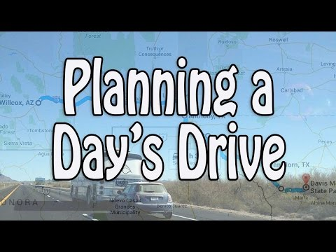 RV Travel - Planning a Day's Drive: Routing, Cross Country Trips and Booking Campgrounds Last Minute