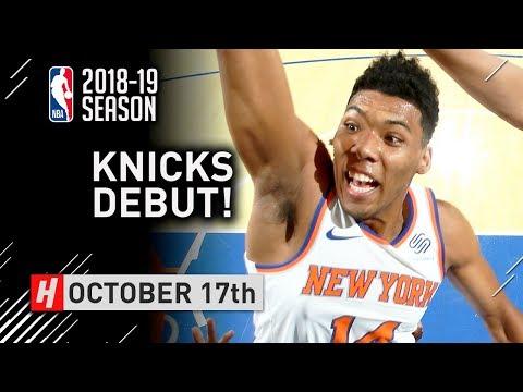 Allonzo Trier Official NBA Debut Full Highlights Knicks vs Hawks 2018.10.17 - 15 Points!