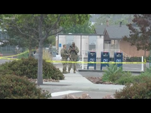 National Guard arrive on scene in San Diego County