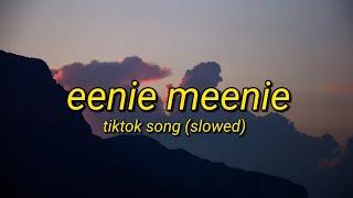 Eenie Meenie - Tiktok Song Slowed (Lyrics Video)