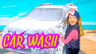 Video for kids. Car wash with Nastya. Funny kids stories from Baby Time channel.