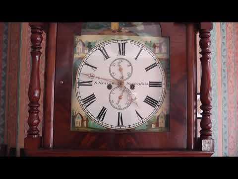 R Heslop Longcase Clock