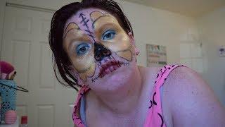 Sugar Skull Halloween Makeup Tutorial