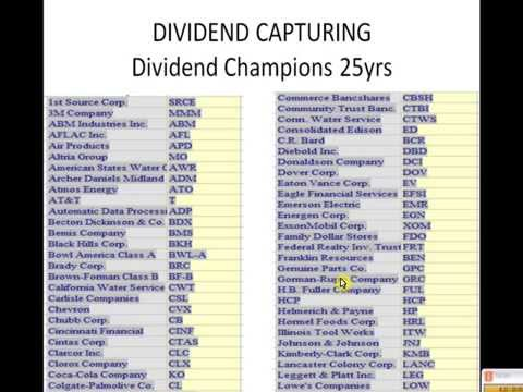 Options strategy dividend capture
