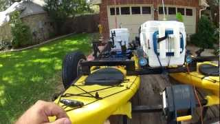 DIY Motor Kayak Catamaran with Outriggers