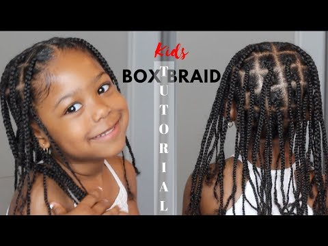 Kids Box Braid Tutorial No Extensions Added Youtube